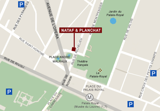 Joindre la cabinet Nataf&Planchat